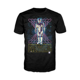 Doctor Who 80s Neon Cyberman Official Men's T-shirt (Black) - Urban Species Mens Short Sleeved T-Shirt
