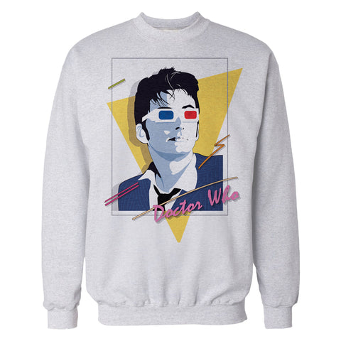 Cool New Doctor Who 80s Tenant Nagel Official Sweatshirt (Heather Grey) - Urban Species Mens Sweatshirt