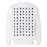 Cool New Doctor Who Pattern Tardis Official Sweatshirt (White) - Urban Species Mens Sweatshirt