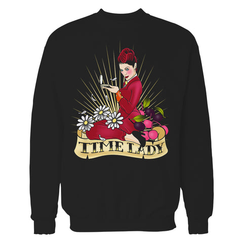 Cool New Doctor Who Rockabilly Missy Time Lady Official Sweatshirt (Black) - Urban Species Mens Sweatshirt