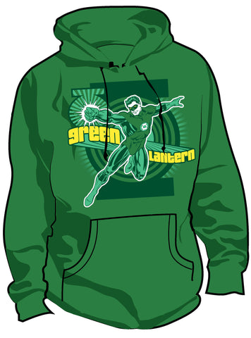 SALE £10 ONLY | DC Green Lantern Fashion First Flight Mens Hoody - Urban Species Hoodie