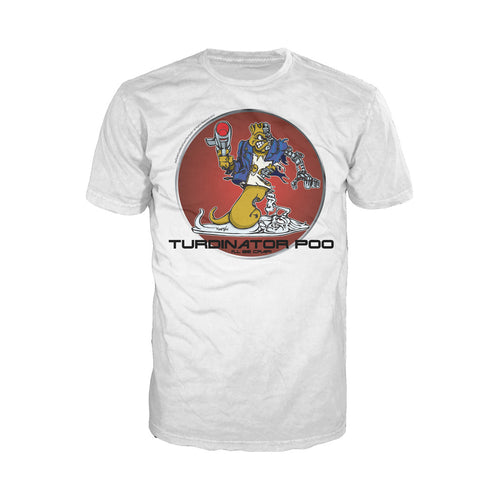 Cool New Joe Turds The Turdinator Official Men's T-Shirt (White) - Urban Species Mens Short Sleeved T-Shirt