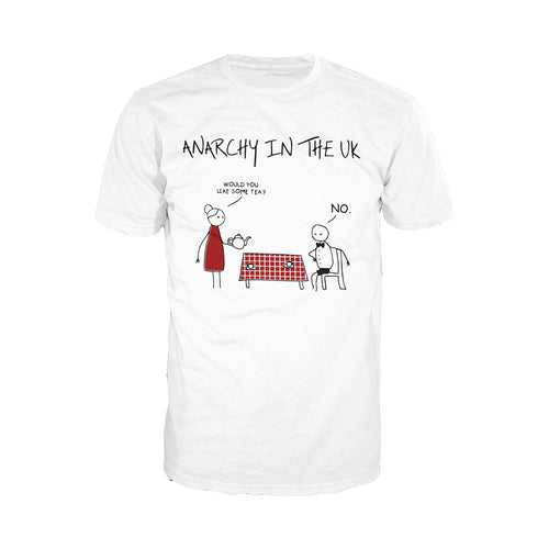 Anarchy in the UK - Adult Joke T-shirt (White) - Urban Species Mens Short Sleeved T-Shirt
