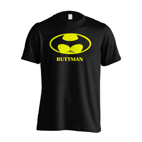Buttman - Adult Joke T-shirt (Black) - Urban Species Mens Short Sleeved T-Shirt