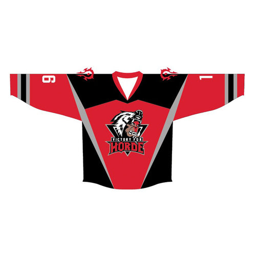 Warcraft Victory For Horde Official Hockey Jersey (Red) - Urban Species