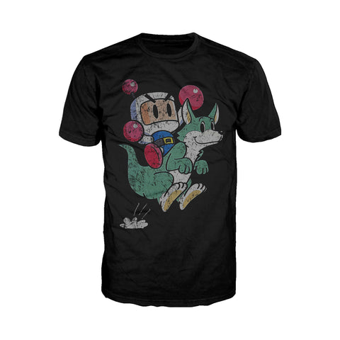Bomberman Character Super 1993 Official Men's T-shirt (Black) - Urban Species Men's T-shirt