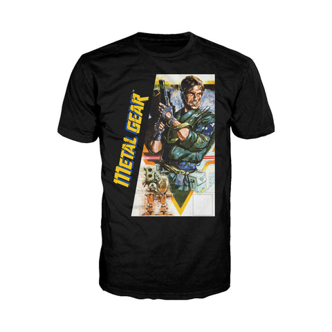 Metal Gear Box Art US Official Men's T-shirt (Black) - Urban Species Mens Short Sleeved T-Shirt