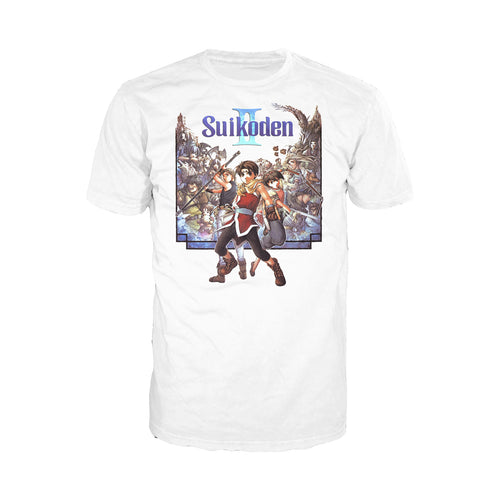 Suikoden II Box Art Official Men's T-shirt (White) - Urban Species Mens Short Sleeved T-Shirt