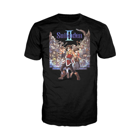 Suikoden II Box Art Official Men's T-shirt (Black)