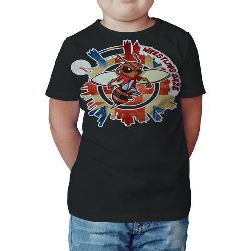 Urban Species Wrestling Daze Splash London Official Kid's T-Shirt (Black) - Urban Species Kids Short Sleeved T-Shirt