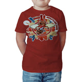 Urban Species Wrestling Daze Splash London Official Kid's T-Shirt (Red)