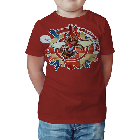 Urban Species Wrestling Daze Splash London Official Kid's T-Shirt (Red) - Urban Species Kids Short Sleeved T-Shirt