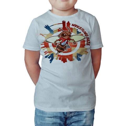 Urban Species Wrestling Daze Splash London Official Kid's T-Shirt (White) - Urban Species