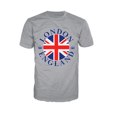 London Crown Badge Men's T-shirt (Heather Grey) - Urban Species Mens Short Sleeved T-Shirt