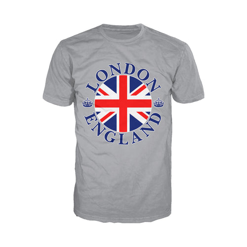 Cool New London Crown Badge Men's T-shirt (Heather Grey) - Urban Species Mens Short Sleeved T-Shirt