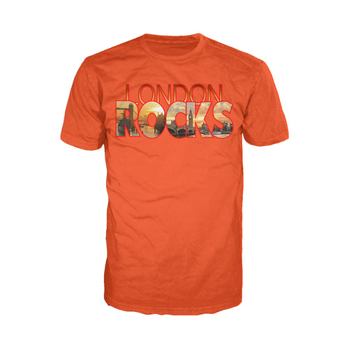Cool New London Rocks Men's T-shirt (Orange) - Urban Species Mens Short Sleeved T-Shirt