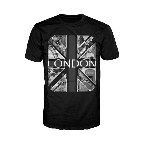 Cool New London Monochrome Scenes Men's T-Shirt (Black) - Urban Species Mens Short Sleeved T-Shirt