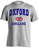 London Oxford Union Jack Men's T-shirt (Heather Grey)