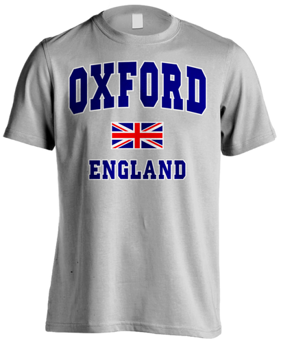 London Oxford Union Jack Men's T-shirt (Heather Grey) - Urban Species