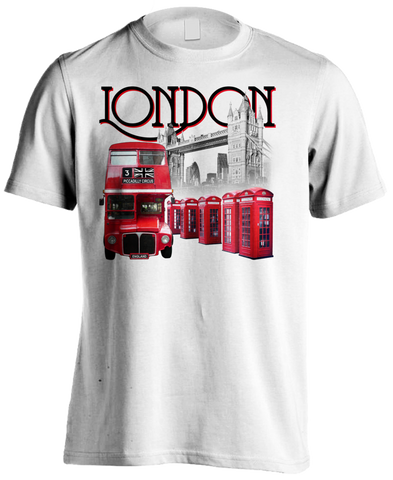London Piccadilly Men's T-shirt (White) - Urban Species