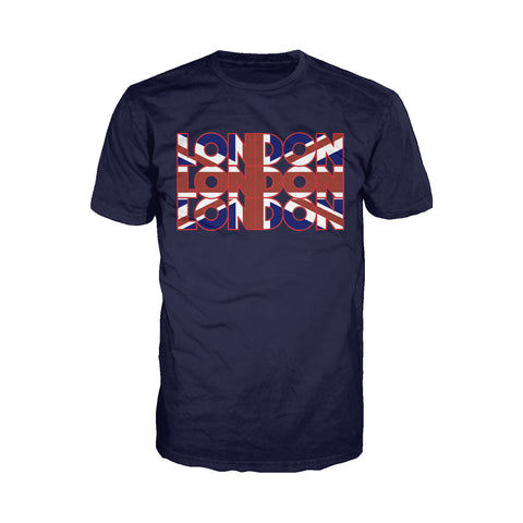 Cool New London Triple London Men's T-Shirt (Navy) - Urban Species Mens Short Sleeved T-Shirt