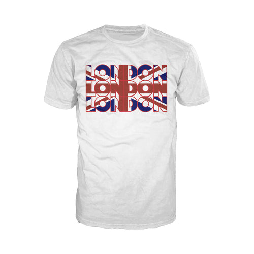 Cool New London Triple London Men's T-Shirt (White) - Urban Species Mens Short Sleeved T-Shirt