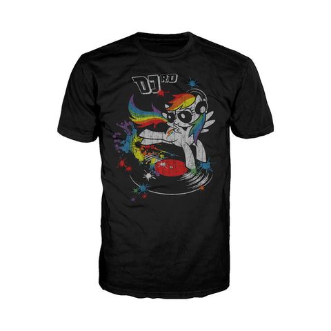 My Little Pony DJ RD Official Men's T-shirt (Black) - Urban Species Mens Short Sleeved T-Shirt