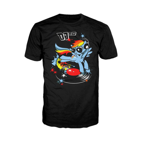 My Little Pony DJ RD 02 Official Men's T-shirt (Black) - Urban Species Mens Short Sleeved T-Shirt