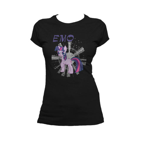 My Little Pony Emo Official Women's T-shirt (Black) - Urban Species Ladies Short Sleeved T-Shirt