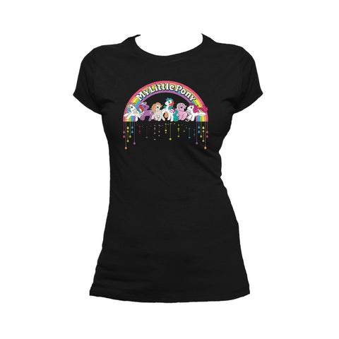 My Little Pony Retro Badge Official Women's T-shirt (Black) - Urban Species Ladies Short Sleeved T-Shirt