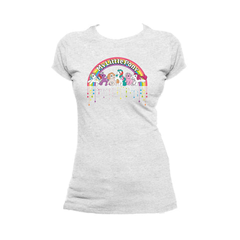 My Little Pony Retro Badge Official Women's T-shirt (Heather Grey) - Urban Species Ladies Short Sleeved T-Shirt