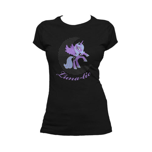 My Little Pony Luna-tic Official Women's T-shirt (Black) - Urban Species Ladies Short Sleeved T-Shirt
