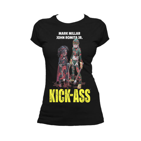 Cool New Kick Ass Poster Hit Girl Bloody Official Women's T-Shirt (Black) - Urban Species Ladies Short Sleeved T-Shirt