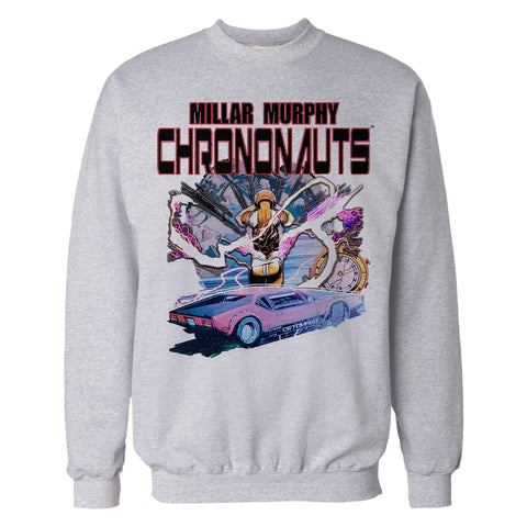Chrononauts Poster Corbin Quinn Official Sweatshirt (Heather Grey) - Urban Species Mens Sweatshirt