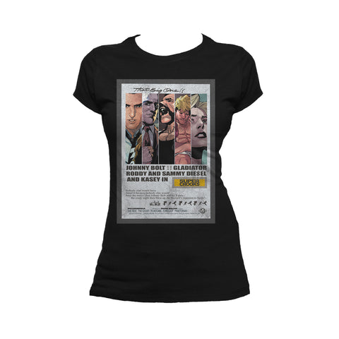 Supercrooks 60s Ocean Poster Official Women's T-Shirt (Black)