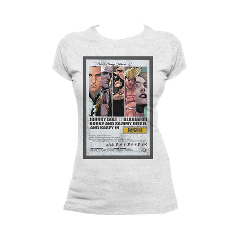 Supercrooks 60s Ocean Poster Official Women's T-Shirt (Heather Grey) - Urban Species Ladies Short Sleeved T-Shirt