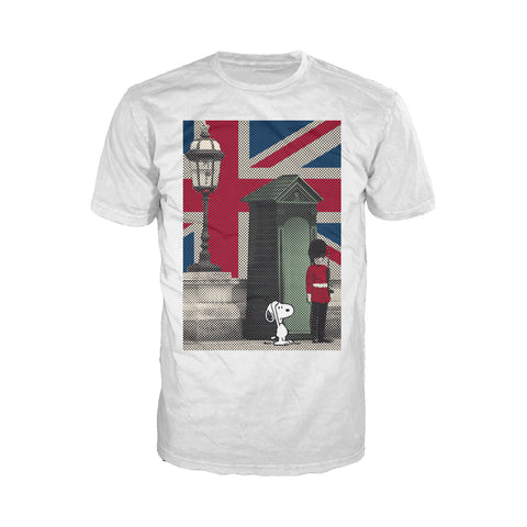 Peanuts Snoopy Remix UK Beefeater Official Men's T-shirt (White)