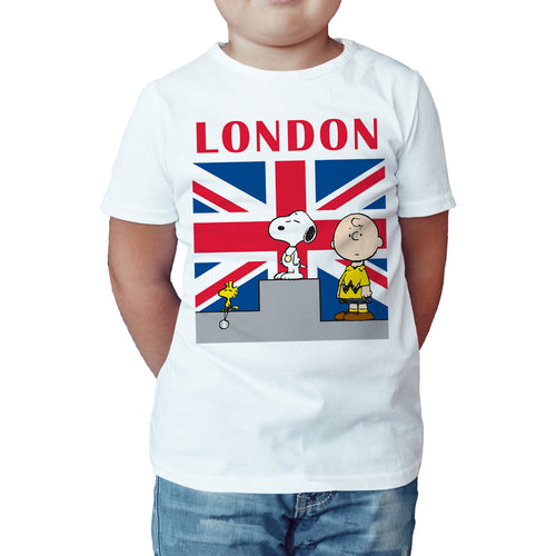 Peanuts Gang Olympic Winners Official Kid's T-Shirt (White) - Urban Species Kids Short Sleeved T-Shirt