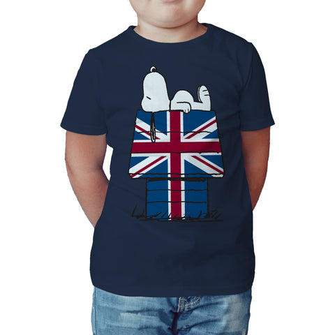 Peanuts Snoopy My House Official Kid's T-Shirt (Navy) - Urban Species Kids Short Sleeved T-Shirt