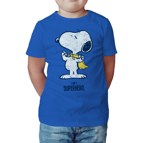 Peanuts Snoopy Super Official Kid's T-Shirt (Royal Blue) - Urban Species Kids Short Sleeved T-Shirt