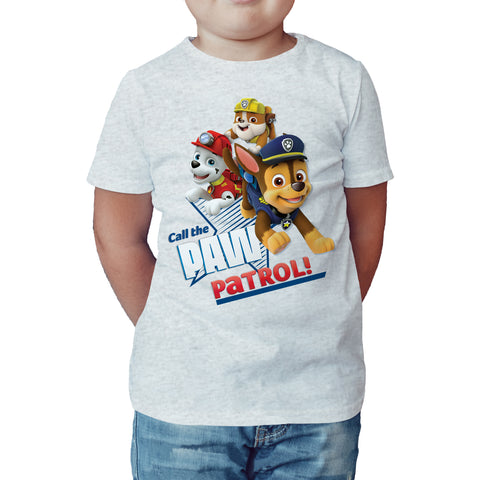 Paw Patrol Call Paw Patrol Official Kid's T-Shirt (Heather Grey) - Urban Species Kids Short Sleeved T-Shirt