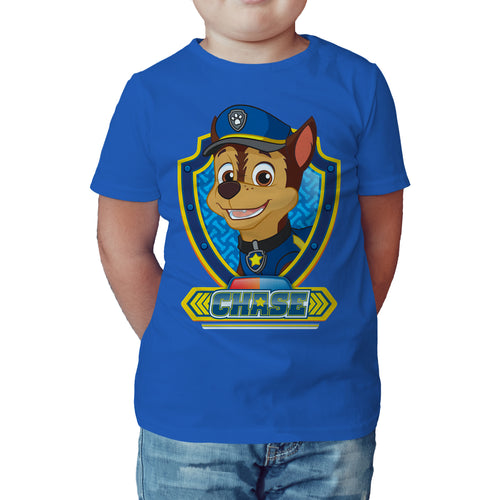 Paw Patrol Chase Official Kid's T-Shirt (Royal Blue) - Urban Species Kids Short Sleeved T-Shirt