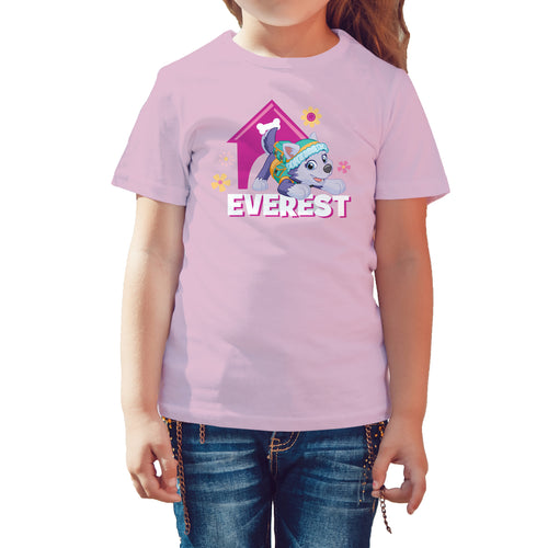 Paw Patrol Everest Official Kid's T-Shirt (Pink) - Urban Species Kids Short Sleeved T-Shirt