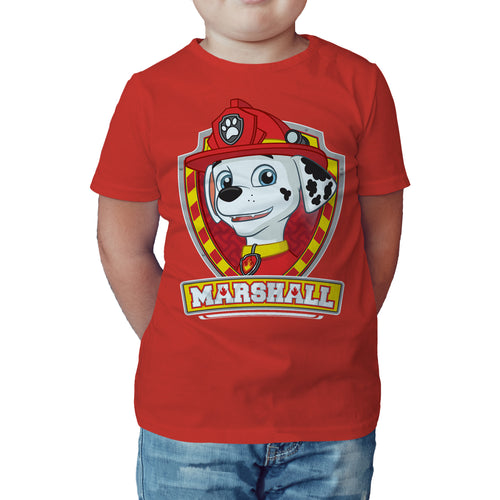 Paw Patrol Marshall Official Kid's T-Shirt (Red) - Urban Species Kids Short Sleeved T-Shirt