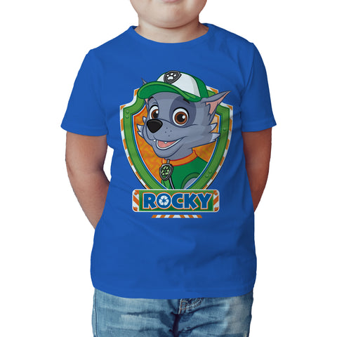 Paw Patrol Rocky Official Kid's T-Shirt (Royal Blue) - Urban Species Kids Short Sleeved T-Shirt