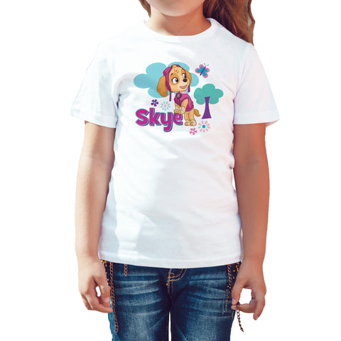 Paw Patrol Skye Official Kid's T-Shirt (White) - Urban Species Kids Short Sleeved T-Shirt