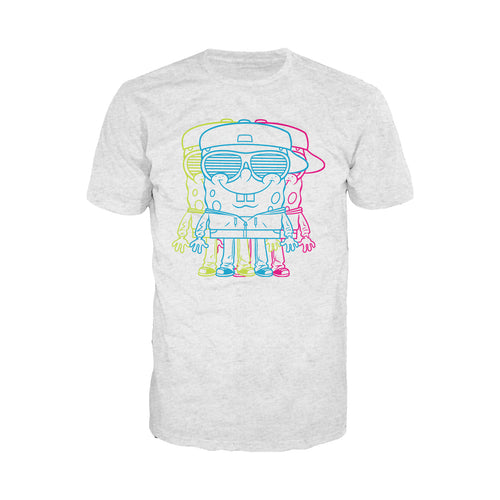 Cool New SpongeBob SquarePants 3D Official Men's T-Shirt (Heather Grey) - Urban Species Mens Short Sleeved T-Shirt