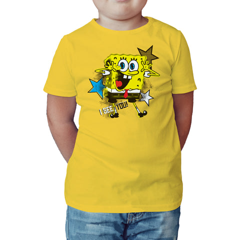 SpongeBob SquarePants See You Official Kid's T-Shirt (Yellow) - Urban Species Kids Short Sleeved T-Shirt