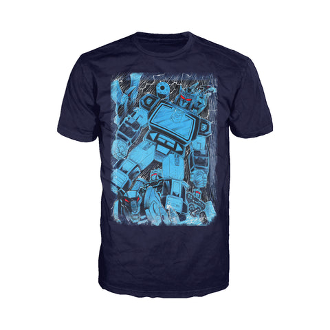 Cool New Transformers Soundwave Family Official Men's T-shirt (Navy) - Urban Species Mens Short Sleeved T-Shirt