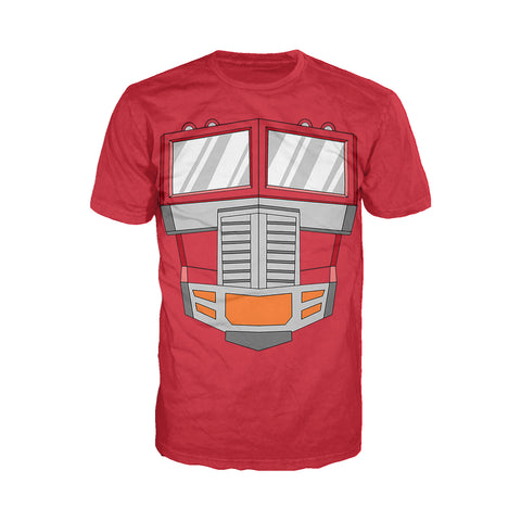 Cool New Transformers Cosplay Optimus Prime Official Men's T-shirt (Red) - Urban Species